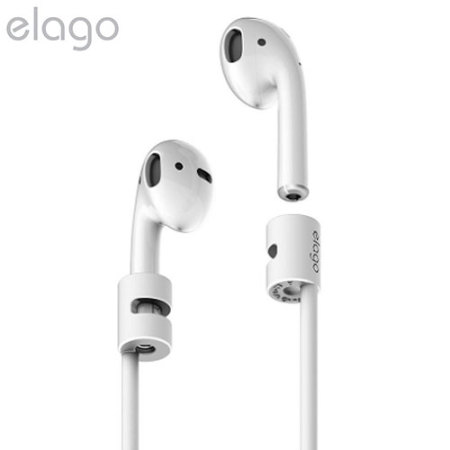 Elago Silicone Anti-Loss AirPods Strap - White