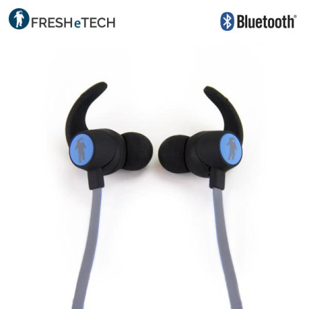 freshetech freshebuds air wireless bluetooth headphones black blue. Black Bedroom Furniture Sets. Home Design Ideas