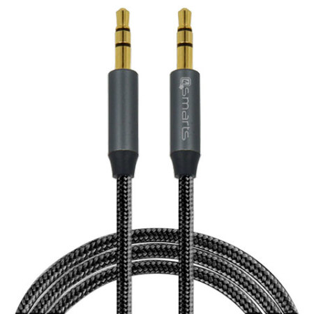 4smarts SoundCord 3.5mm to 3.5mm Aux Audio Cable - 1m