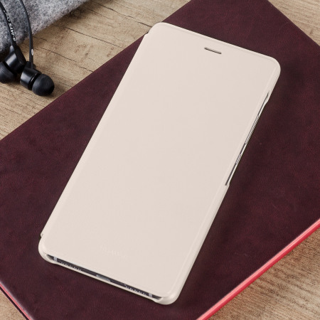 Official Leather Style Huawei P9 Lite Flip Cover - Gold