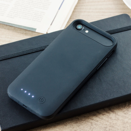 slim fit 3100mah iphone 8 / 7 battery case - black