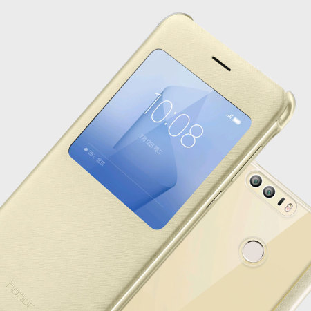 Official Huawei Honor 8 View Flip Fodral - Guld