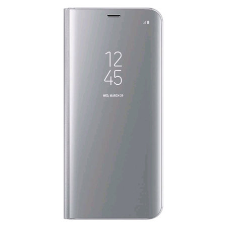 Official Samsung Galaxy S8 Plus Clear View Stand Cover Case - Silver