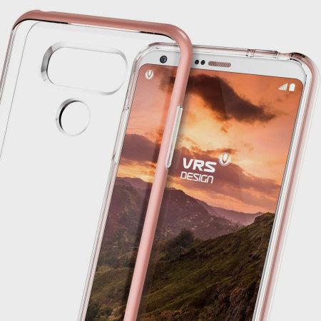 VRS Design Crystal Bumper LG G6 Hülle Rosa Gold
