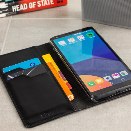 buy popular ea325 ce2a8 Olixar Genuine Leather LG G6 Executive Wallet Case - Black