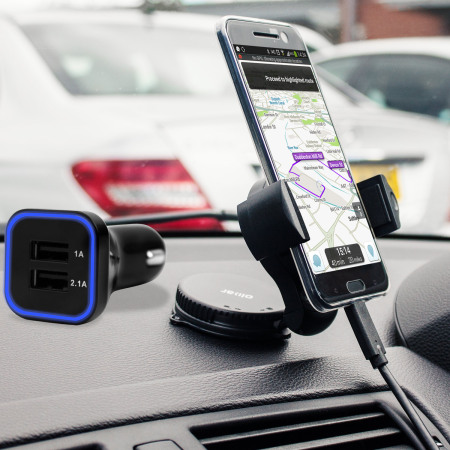 Olixar DriveTime HTC 10 Car Holder & Charger Pack