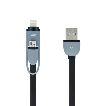 Forever Universal Micro USB + Lightning Charge and Sync Cable - Black