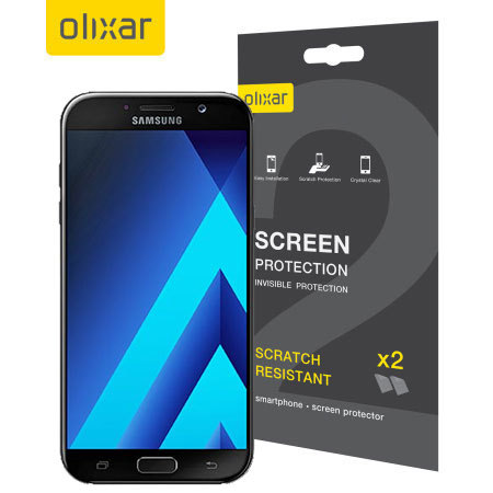 Olixar Samsung Galaxy A7 2017 Screen Protector 2-in-1 Pack