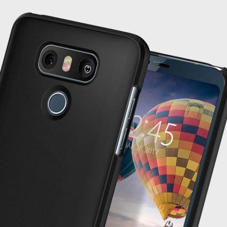 new style 676e8 9d925 Spigen Thin Fit LG G6 Case - Black