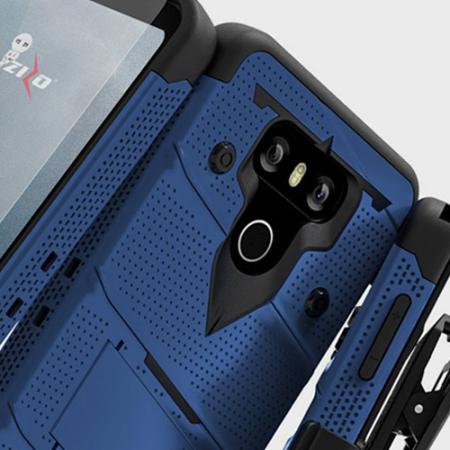 Zizo Bolt Series LG G6 Tough Case & Belt Clip - Blue