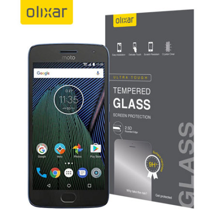 Olixar Motorola Moto G5 Plus Tempered Glass Screen Protector