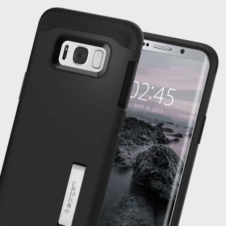 buy online f70f6 c6231 Spigen Slim Armor Samsung Galaxy S8 Plus Tough Case - Black