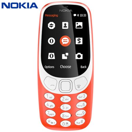 SIM Free Nokia 3310 (2017) Unlocked - Red