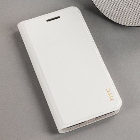 official htc u play genuine leather flip case milky white
