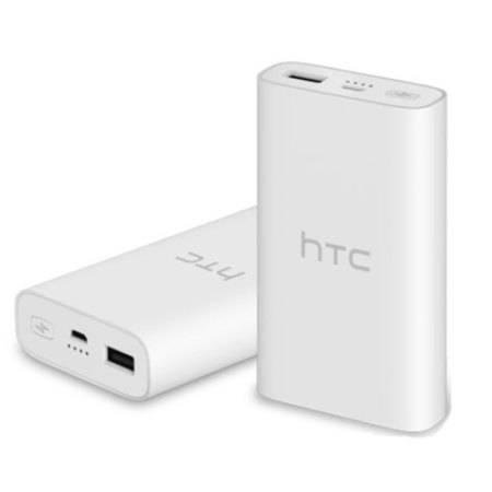 htc white. htc portable qualcomm quick charge 3.0 power bank - 10,050mah white htc
