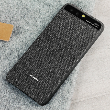 Official Huawei P10 Protective Fabric Skal - Mörkgrå