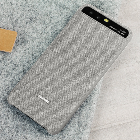 Official Huawei P10 Plus Protective Fabric Case - Light Grey