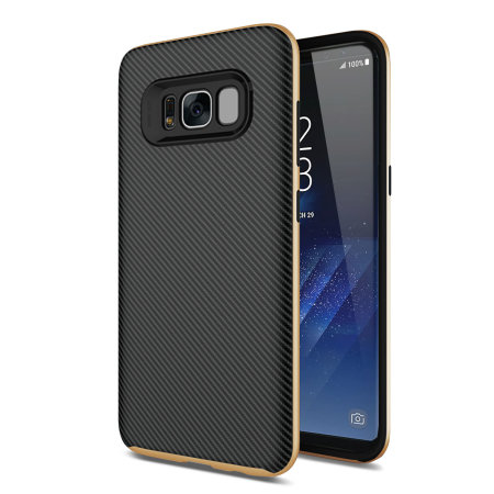 Olixar X-Duo Samsung Galaxy S8 Plus Case - Carbon Fibre Gold