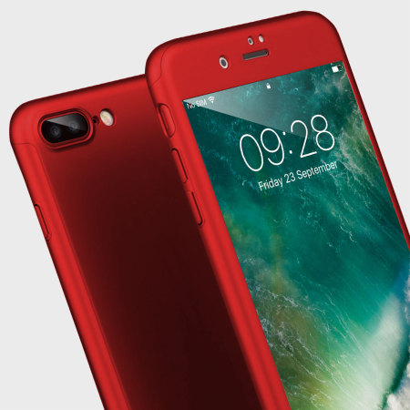 olixar xtrio full cover iphone 7 plus case - red