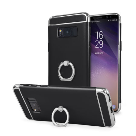 Olixar X-Ring Samsung Galaxy S8 Plus Finger Loop Case - Black