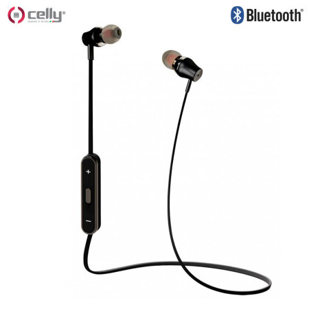 Celly Wireless Bluetooth Earphones with Remote and Mic - Black / Red