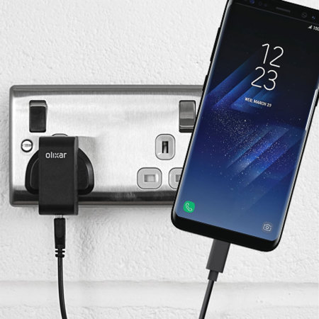 olixar high power samsung galaxy s8 plus car charger advert