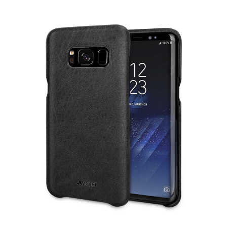Vaja Grip Samsung Galaxy S8 Premium Leather Case - Black