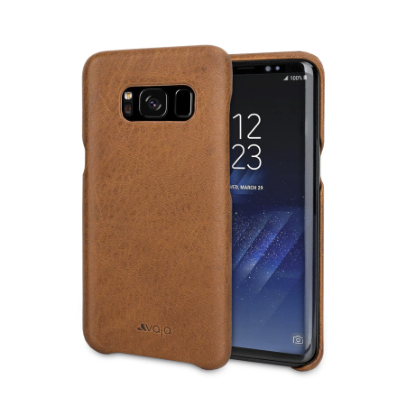 Vaja Grip Samsung Galaxy S8 Premium Leather Case - Brown