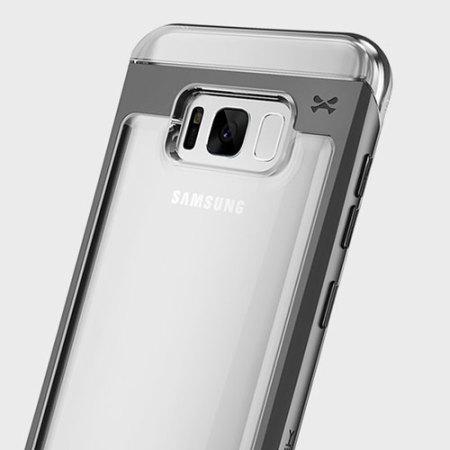 Ghostek Cloak 2 Samsung Galaxy S8 Aluminium Tough Case - Clear / Black