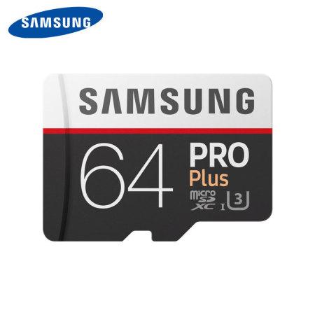 Samsung 64GB MicroSDXC PRO Plus Memory Card w/ SD Adapter - Class 10