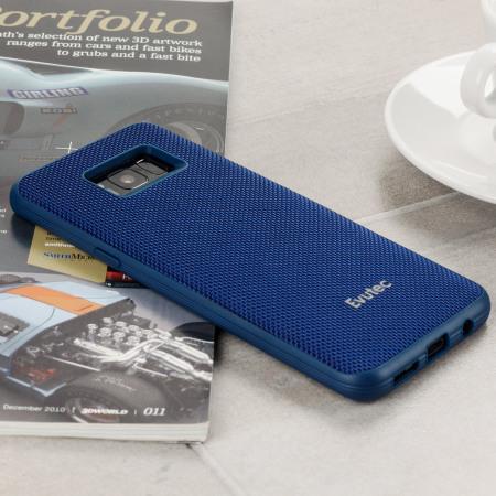 reputable site 868ea bd0d5 Evutec AERGO Ballistic Nylon Samsung Galaxy S8 Tough Case - Blue