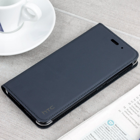 Official HTC U11 Leather-Style Flip Case - Dark Grey