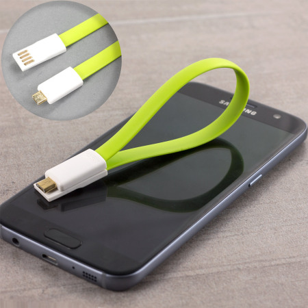 Cable corto de carga y sincronización magnética Micro USB STK - Verde