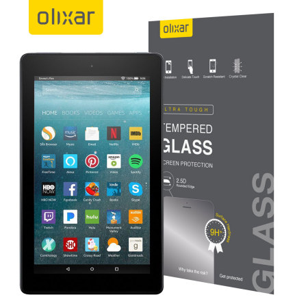 Olixar Amazon Fire HD 8 2017 Tempered Glass Screen Protector