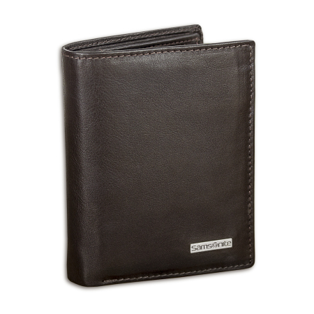 Samsonite S-Derry Genuine Leather RFID Blocking Wallet - Brown