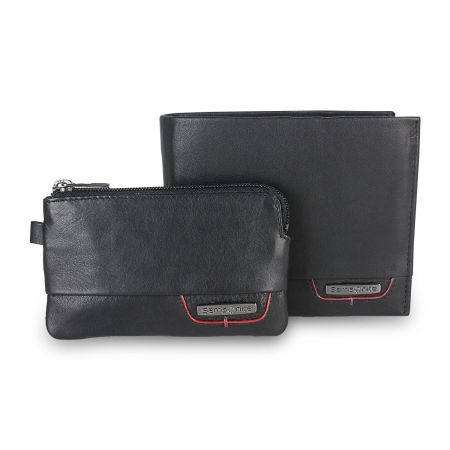 Samsonite Pro DLX Genuine Leather RFID Blocking Wallet Gift Set