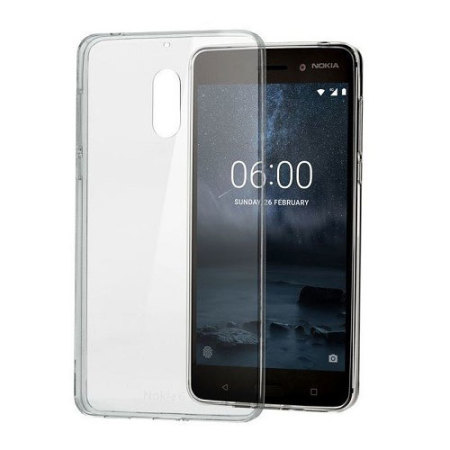coque officielle nokia 6 crystal silicone transparente. Black Bedroom Furniture Sets. Home Design Ideas
