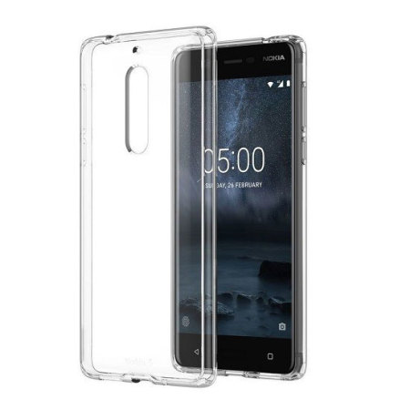 Official Nokia 5 Slim Crystal Silicone Gel Case - Clear