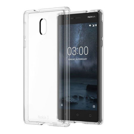 official photos be435 bdeae Official Nokia 3 Slim Crystal Silicone Gel Case - Clear