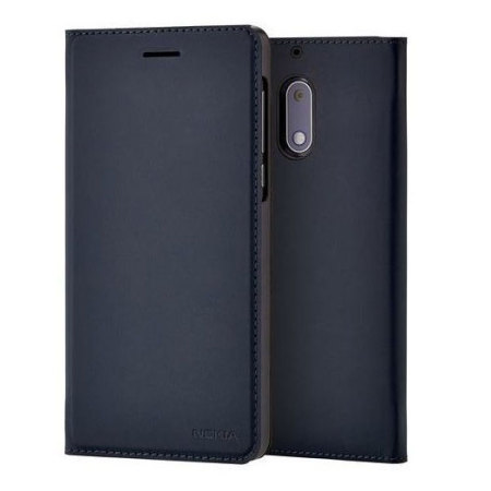 Official Nokia 6 Slim Flip Wallet Case - Blue
