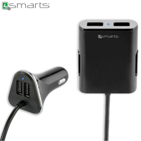 Chargeur Hub Voiture Famille 4smarts 4 ports USB