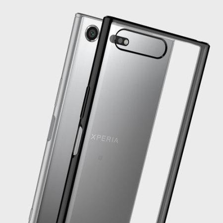Muvit MFX Bling Sony Xperia XZ Premium Gel Shell Case - Black / Clear