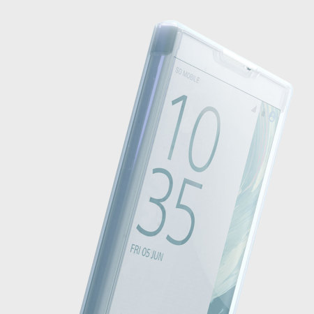 sale retailer 44084 e8f2b Muvit MFX Sony Xperia XZ Premium Touch Flip Folio Case - Clear