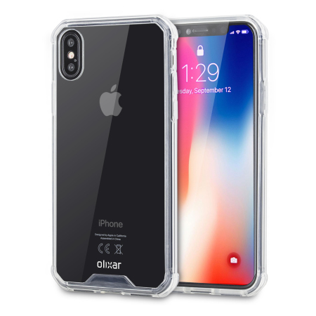 Olixar ExoShield Tough Snap-on iPhone X Case - Klar