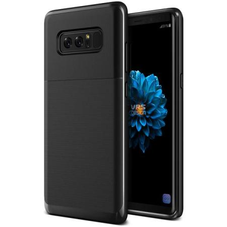 VRS Design High Pro Shield Samsung Galaxy Note 8 Case - Jet Black