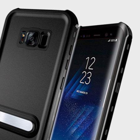 the best attitude cbc58 86560 KSIX Aqua Samsung Galaxy S8 Waterproof Stand Case - Black