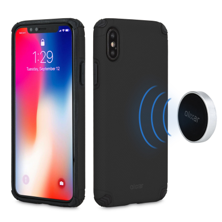 olixar magnus iphone x case and magnetic holders - black reviews