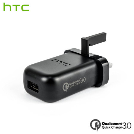 Official HTC Qualcomm Quick Charge 3.0 UK Mains Charger - Black