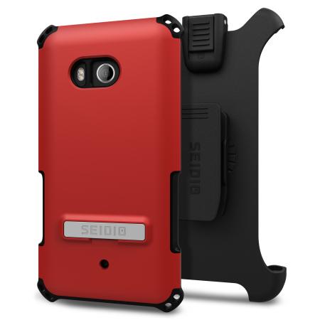 Seidio Dilex Combo HTC U11 Holster Case w/ Kickstand - Dark Red / Grey