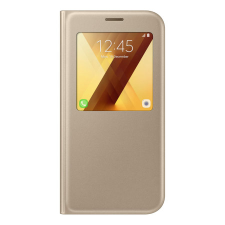 Official Samsung Galaxy A7 2017 S View Premium Cover Case - Gold
